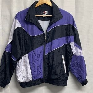 Vintage 80s Bomber Jacket purple